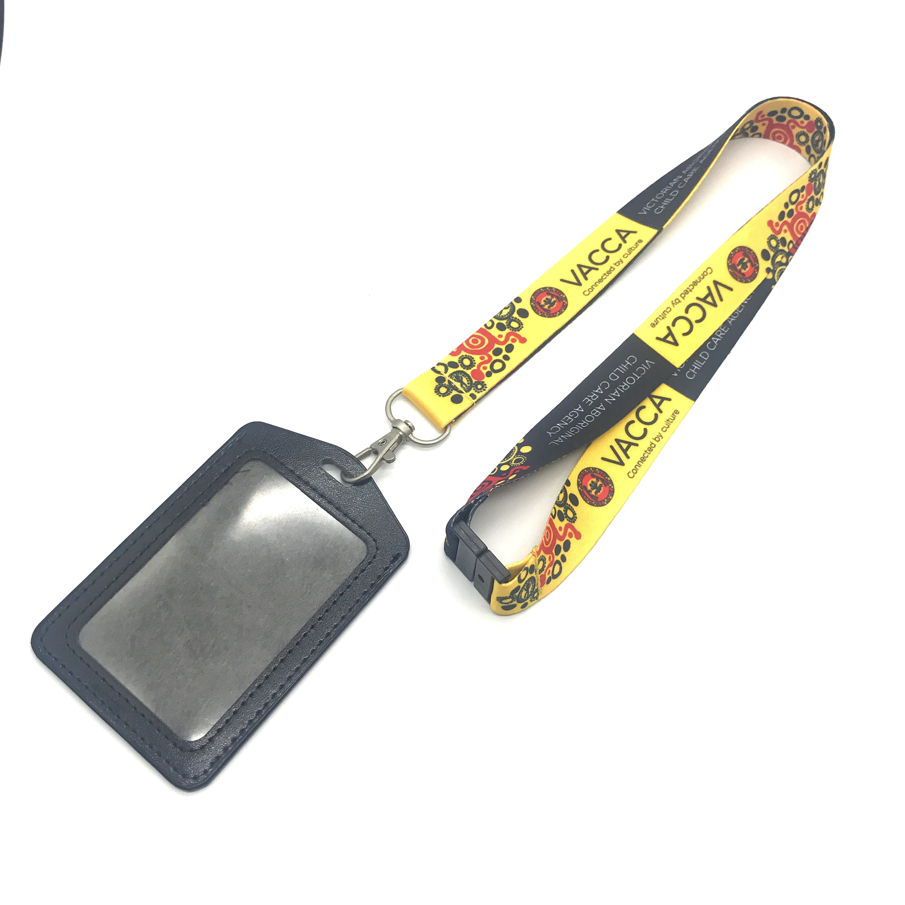 Factory custom cute plastic ID card holder with lanyard for sale