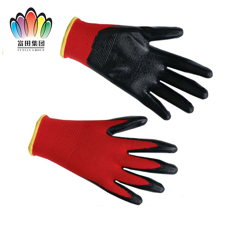 FT SAFETY High quality nitrile coated cheap working industry <strong>gloves</strong>