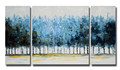 Hotel Decoration Canvas Blue forest Oil Painting Arts and Crafts