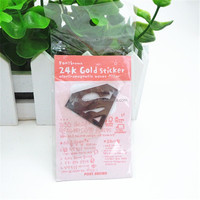 24k superman phone stickers 3 d metal stickers
