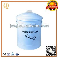 MANUFACTURER white metal pet food storage containers