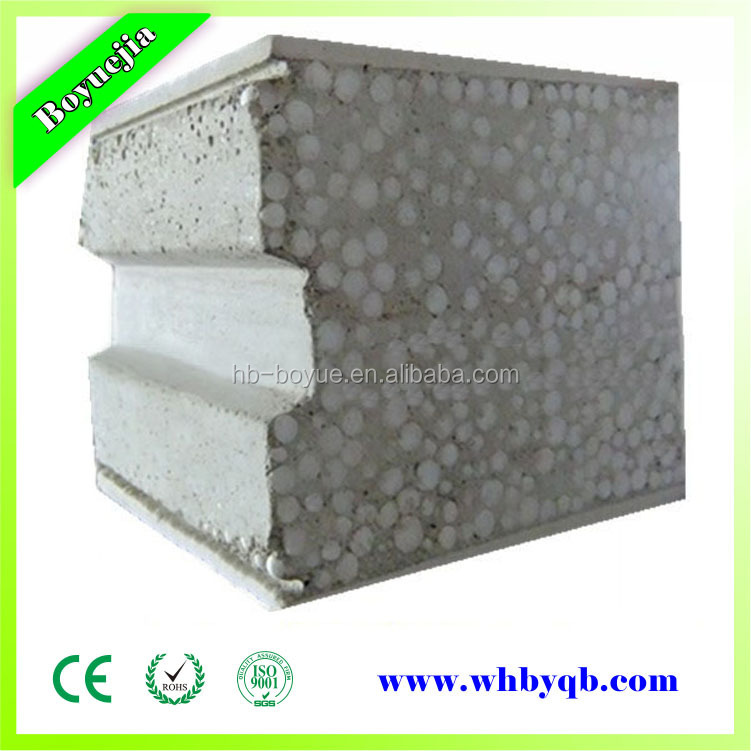 Structured insulated eps foam block foam concrete wall for Foam block wall construction