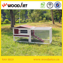 Fir wood luxury rabbit cage with tray and run