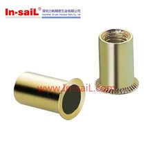 Rivet Nut with Knurled Cylindrical Threaded Insert, Reduced Countersunk Head, Open Type