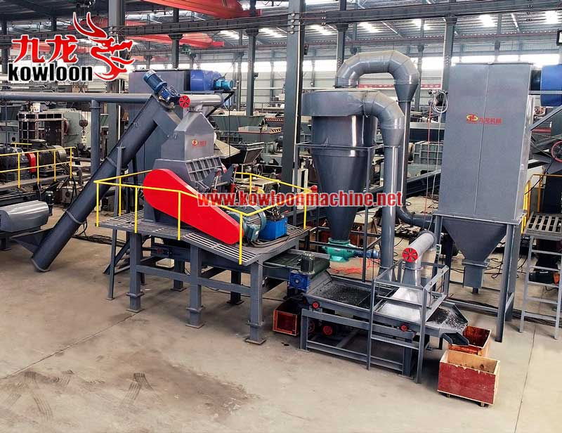 Waste tyre recycle line rubber granulator machine