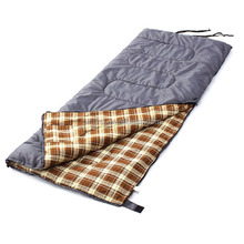 "Camp XL +23 F Flannel Lined Sleeping Bag (79""x 32"") Fit for Kids, Teens and Adults"