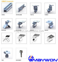 2017 New Year Promotion Maywon PV Solar Mounting Structure Kits/Parts/ accessories/ lock