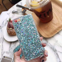 TPU Bling Bling Power Glitter Mobile Phone Case Cover For iPhone 7 Phone Case