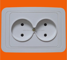 European style flush mounted double 2 pin electric socket outlet (F2209)