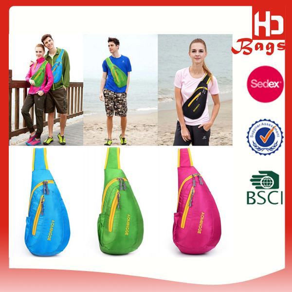Wholesale china supplier cheap sport sling bag for teenagers