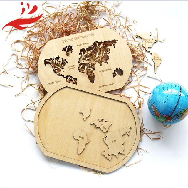 new design wooden world map kids wold puzzle map
