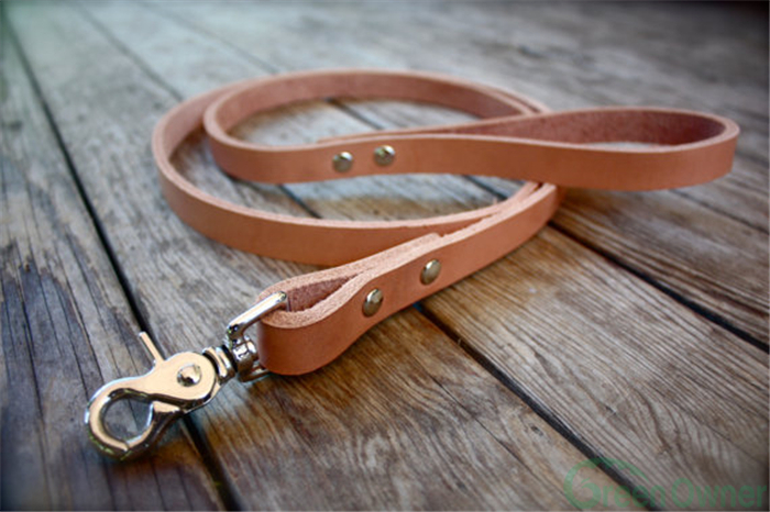 Dog Leash, leather Rope Leash, leather Dog Leash wish collar