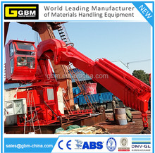 GBM 5T@ 20M electric hydraulic offshore knuckle telescopic boom ship deck marine crane