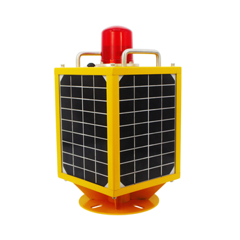 5km view Solar-Powered Aircraft warning lights For Building Tower Chimney /Low Intensity LED aviation solar obstruction lighting