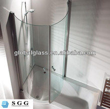 High quality curved glass shower screen with ISO CCC CE