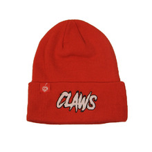 Promotional custom red knitting hat cotton fabric beanie knitted beanies