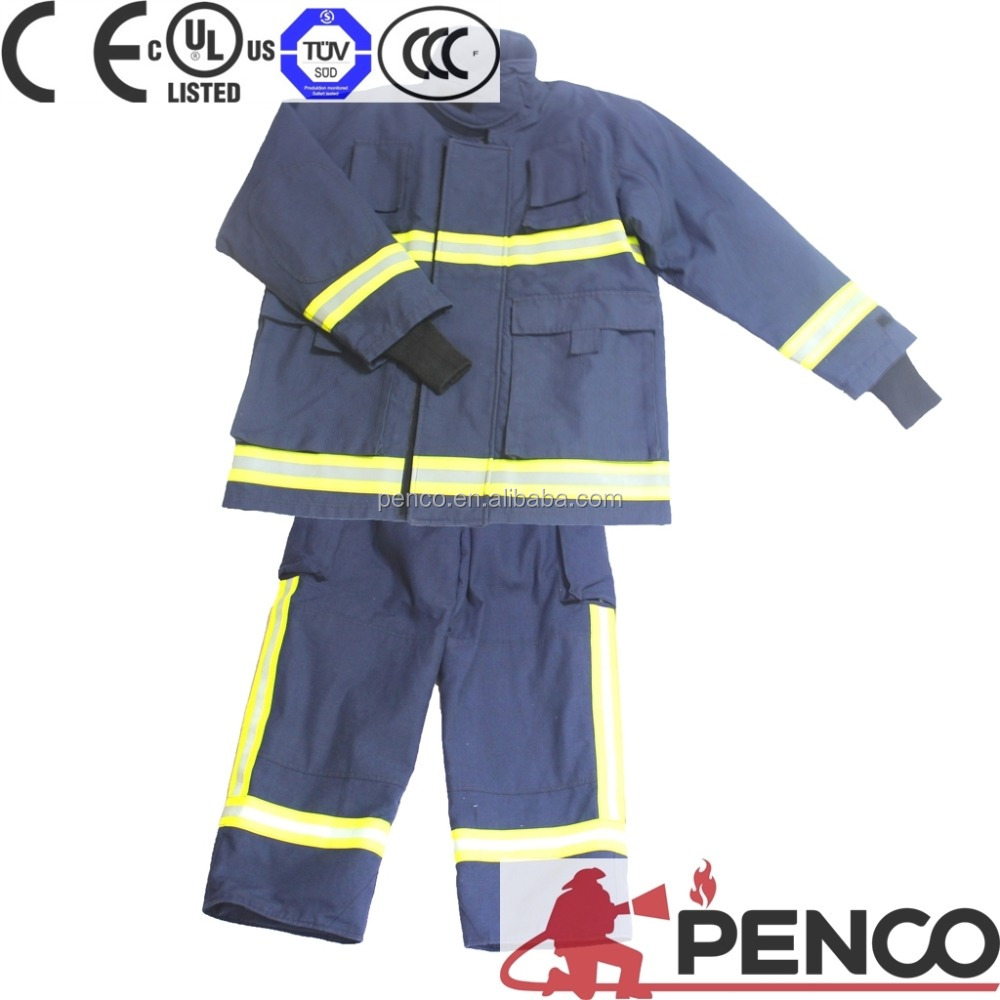 EN469 EN397 standard fire fighter equipment used fire suits