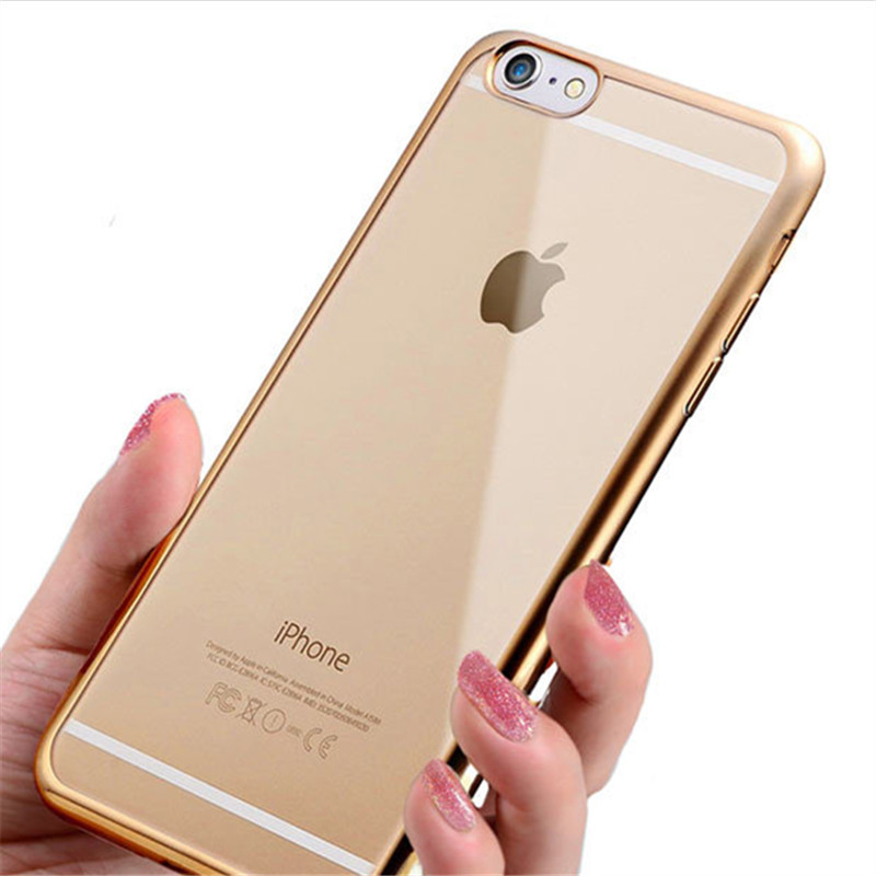 360 Full Electroplated TPU Mobile Phone Case Cover For IPhone 5 6 7 8 X