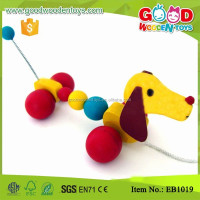 Fancy Pulling Along Wooden Dog Toy for kids