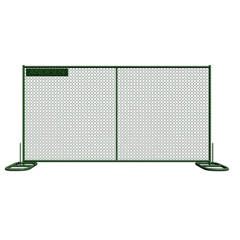 Fencing for temporary chain link fence gate