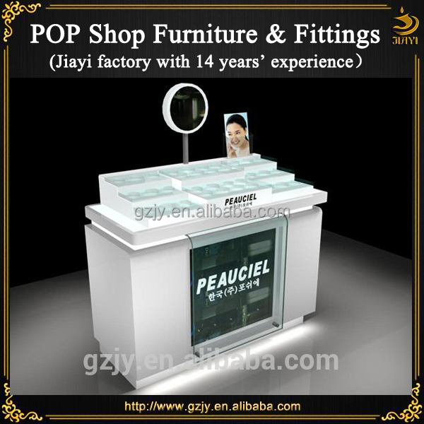 Mirrored pop cosmetic display counter for makeup display stand