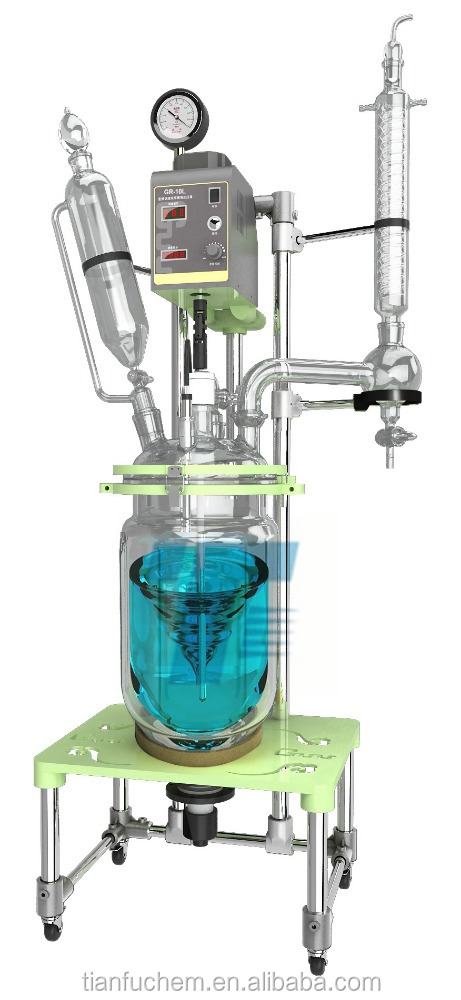 TF-20L jacketed chemical glass reactor