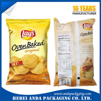 Printed laminated film for snack chips packaging /Apple chips plastic wrap bag