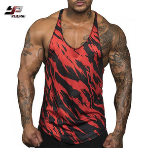 New Fashion Muscle Men Red Sports Fitness Tank Top