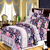 Weifang microfiber flower design bed sheet fabric for bedding set