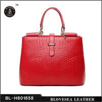 European And American Retro Style Thread Pattern Cell phone Pocket Inside Fashion Leather Handbags Made In China