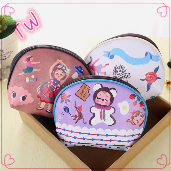 High quality custom half round coin bags wholesale ladies new fashion Eco-friendly waterproof PU mini coin sorter purse