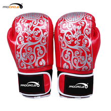 High Elasticity Printed Leather Boxing Gloves Custom