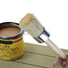 Professional Chalk Finish Paint and Wax Brush Natural Boar Hair Bristles