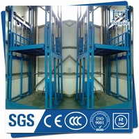 300kg-3000kg guide rail lift /telescopic lift /hydraulic cylinder cargo lift