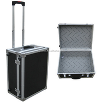 Rolling Train Beauty Makeup Case Aluminum Trolley Cosmetic Case with artist