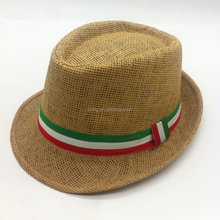 Wholesale Promotional Summer woven Paper Straw Hat with custom ribbon