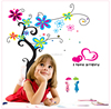DF5105 flower tree colourful decorative removable DIY wall stickers