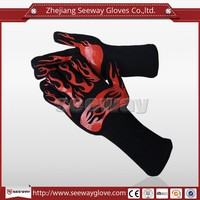 Seeway Silicone Rubber Coated Gloves for Kitchen