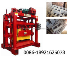 Small hydraulic semi automatic concrete hollow block making machine price