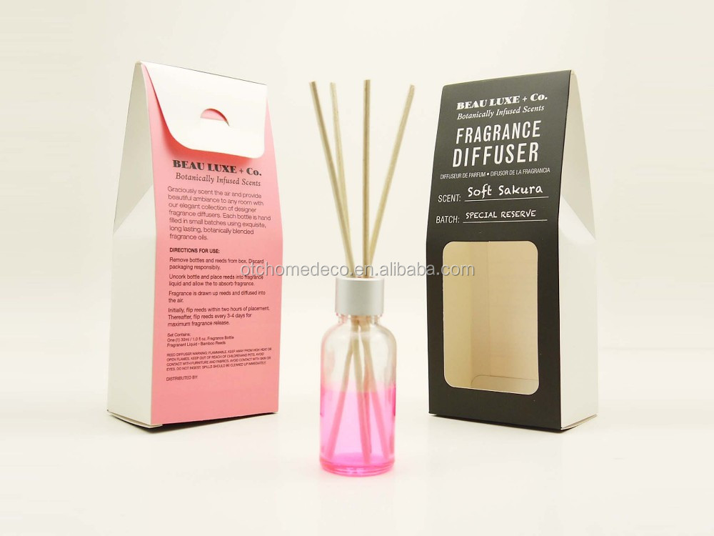 OTC-CD004 soft sakura 30ml small painted aroma essential oil reed diffuser set