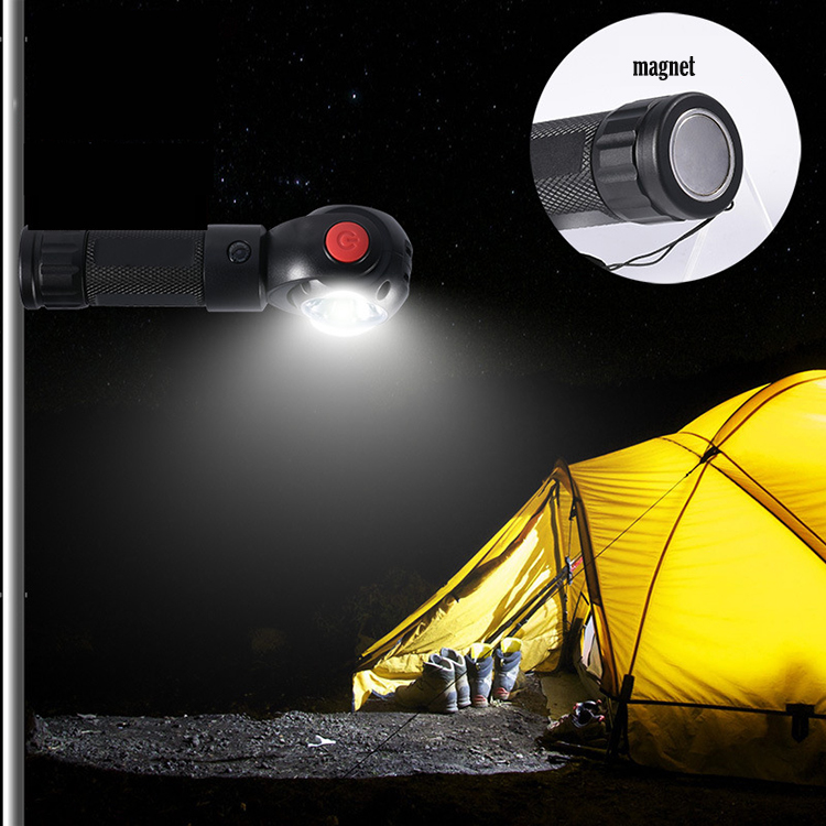 portable LED flashlight 360 degree rotary led lamp head outdoor usb rechargeable flashlight for outdoor