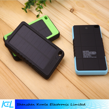 Hot product Waterproof Solar power bank 8000mah, Solar Energy Charger for Smartphone