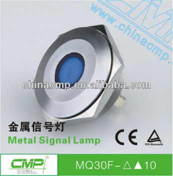 28mm Diameter Mechanical metal led Signal lamp,220 Volt Orange led
