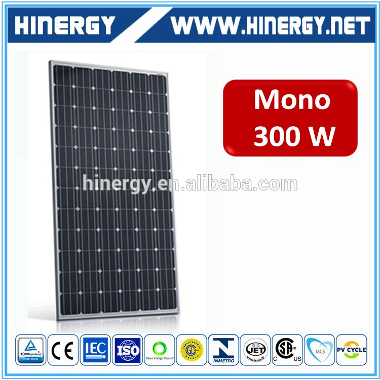 Hot selling 300w pv sola panel with lower price 300w mono panel solar for solar farm