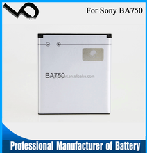 3.7V 1500mAh BA750 replacement mobile phone battery