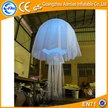 inflatable decorating jellyfish balloon/inflatable jellyfish with led light