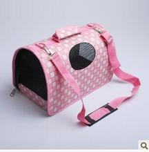 China factory Portable Travel Dog Cat Carry Bag Shoulder Bag grid pet carry bag