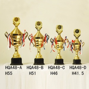 Factory OEM metal soccer trophies, cheap plastic football design trophy cup
