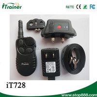 IT728 LCD Display 4 in 1 Static Shock/Vibration/Beep/Light Remote Control Dog Training