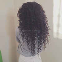 Top Beauty Stock Curly 100% Virgin Brazilian human hair full lace sew in wig